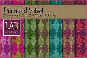 22 Diamond Velvet Fabric Textures