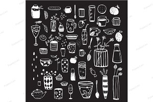 Dishware Sketchy Graphic Collection