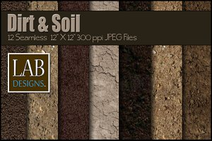 12 Seamless Dirt & Soil Textures