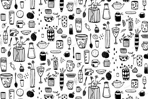 Plate Cup Seamless Pattern