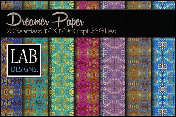 20 Foil Damask Paper Textures