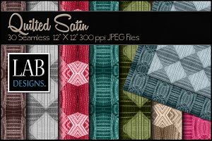 30 Quilted Satin Fabric Textures