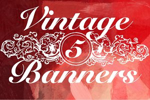 5 Vintage Banners