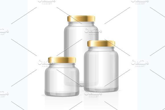 Glass Jars Bottles Empty Transparent