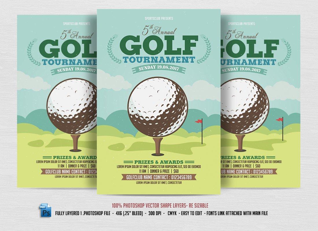 Golf Tournament Flyer Flyer Templates on Creative Market – Golf Tournament Flyer Template