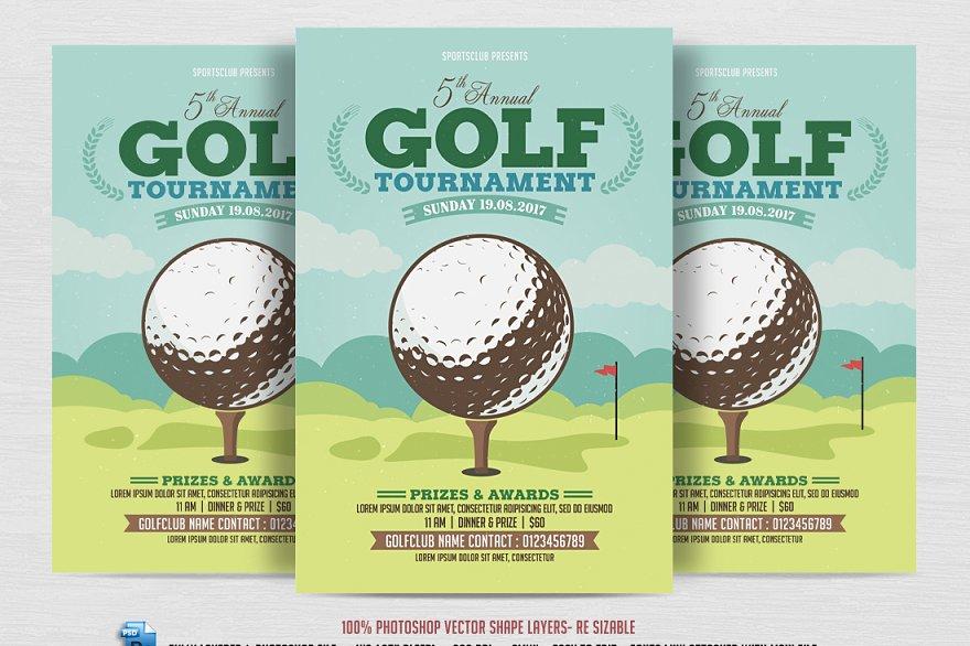 Golf Tournament Flyer Template Flyer Templates Creative Market Pro - Golf tournament flyer template