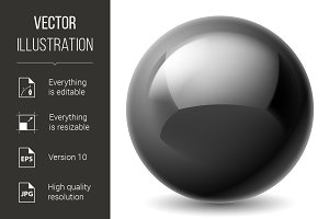 Black metallic ball