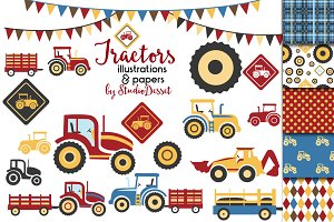 Tractors - Patterns & Illustrations