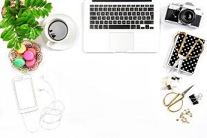 Feminine home office desk
