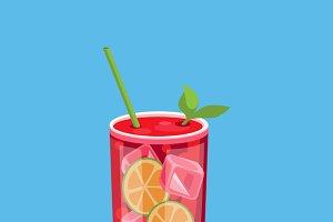 Cold Alcohol Coctail