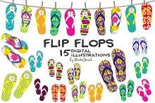 Flip Flop Cliparts