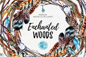 Enchanted Woods Watercolor Mega Pack