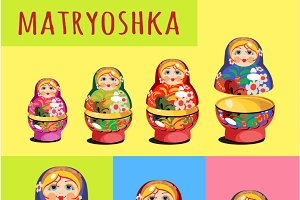 Russian folk toy matryoshka