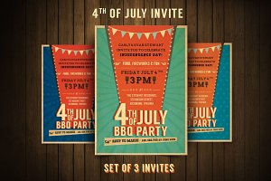 Retro BBQ Invitation Flyer