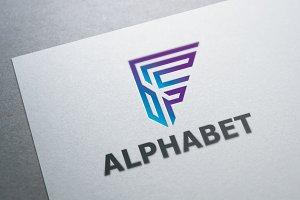 Alphabet F Logo Template