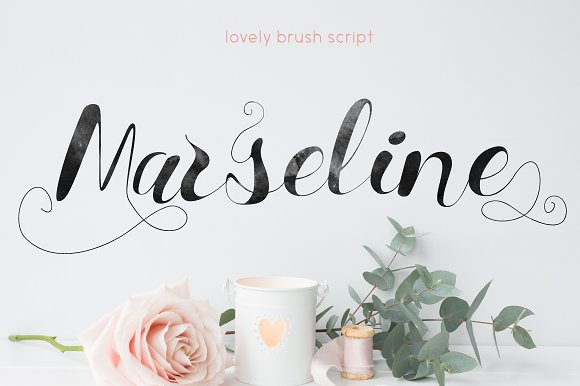 Marseline script fonts creative market fandeluxe Image collections