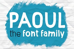 Paoul - The Headliner&#x3B; Font Family