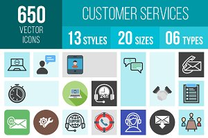 650 Customer Services Icons
