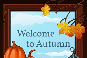 Autumn bright backgrounds