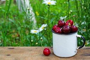 cherry in a mug