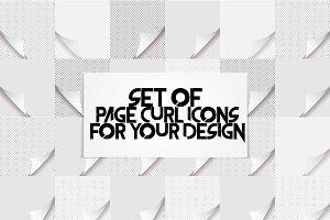 Page curl set