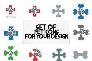 Pet clinic icons