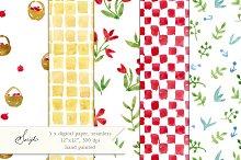 Watercolor Paper, Seamless Pattern