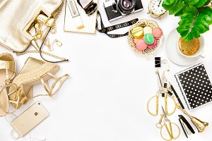 Fashion flat lay for business lady