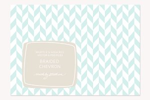 VECTOR & PSD Braided Chevron tile &
