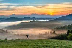 Vivid landscape in the morning