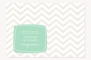 VECTOR & PSD Hand Drawn Chevron gap