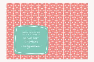 VECTOR & PSD Geometric Chevron tile&