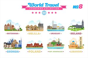 World Travel Countries Collection 8