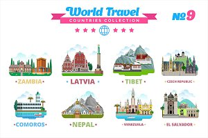 World Travel Countries Collection 9