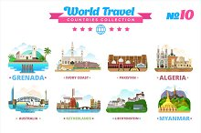 World Travel Countries Collection 10