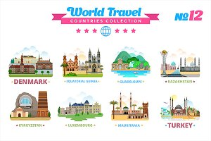 World Travel Countries Collection 12