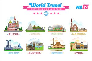 World Travel Countries Collection 13