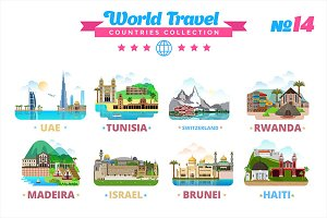 World Travel Countries Collection 14