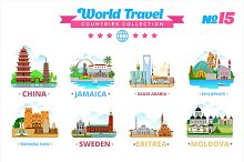 World Travel Countries Collection 15