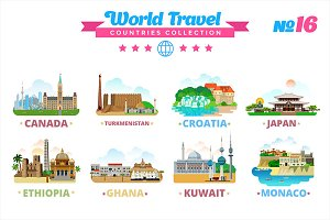 World Travel Countries Collection 16