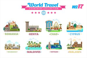 World Travel Countries Collection 17