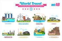 World Travel Countries Collection 18