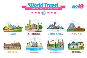 World Travel Countries Collection 19