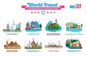 World Travel Countries Collection 21