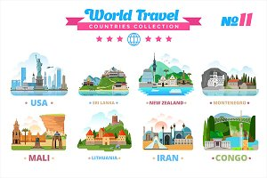 World Travel Countries Collection 11