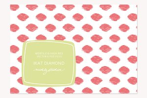 VECTOR & PSD Ikat Diamond tile & pa