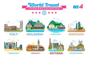 World Travel Countries Collection 4