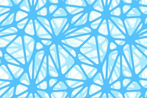 Blue neural net on white