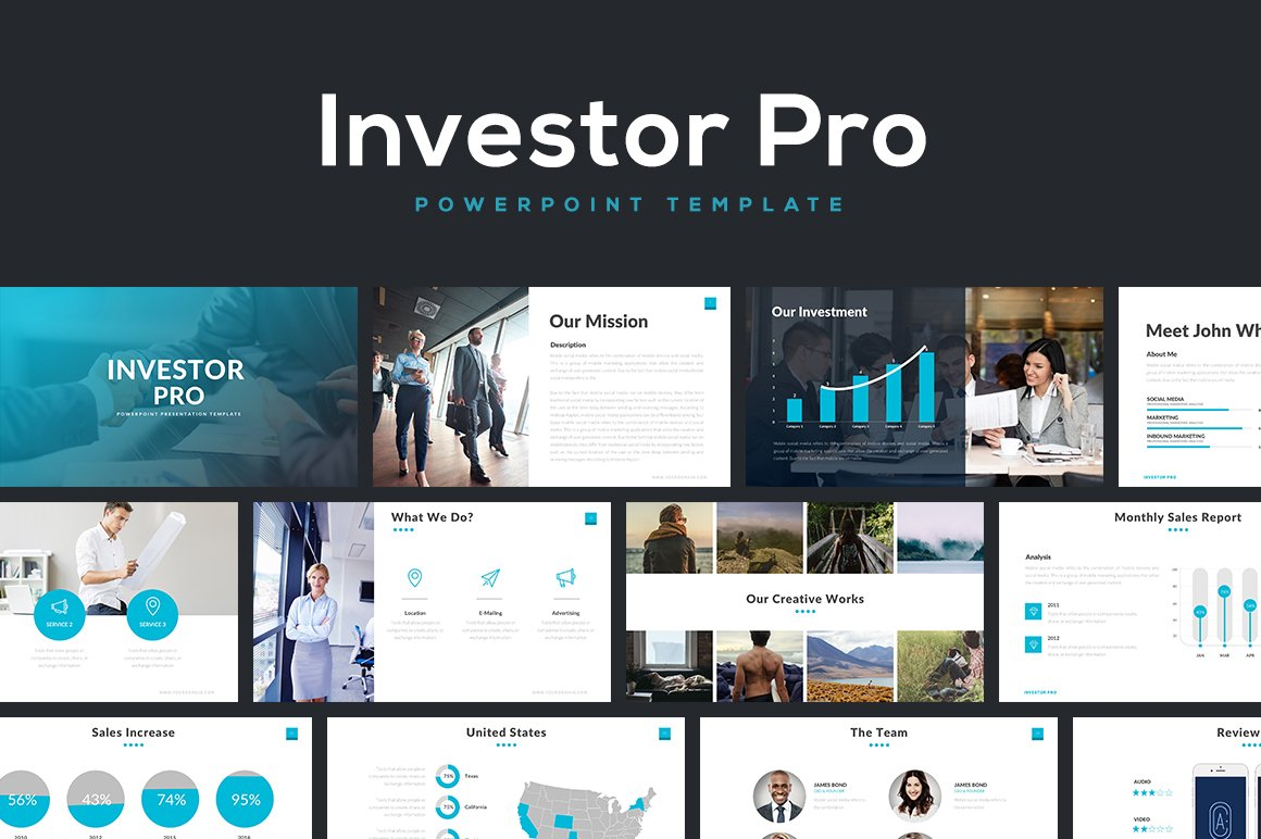 Investor Pro Powerpoint Template Presentation Templates Creative