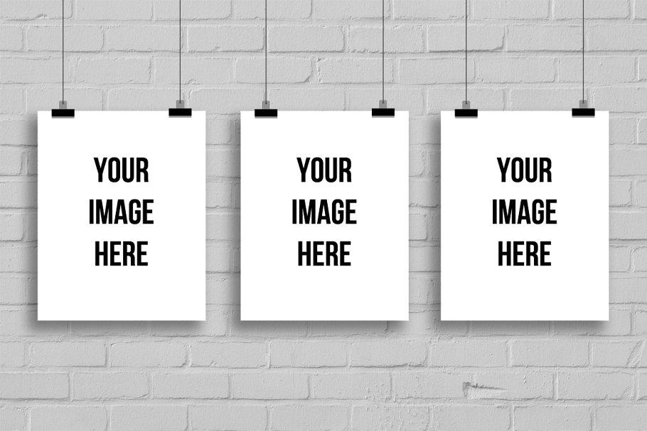 Three Empty Frames for Art Display